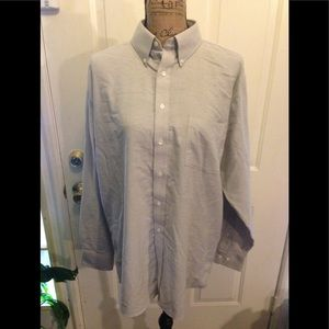 NWOT Pale Gray Men's Stafford Wrinkle Free Oxford